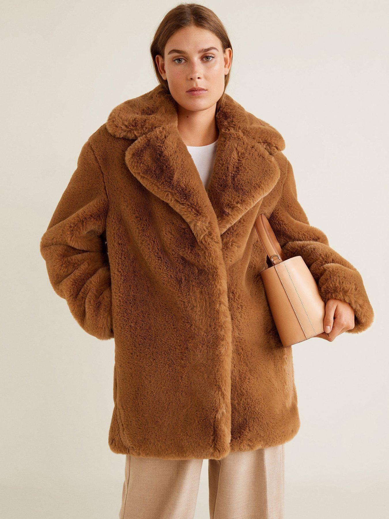 Littlewoods Ireland Online Shopping Fashion Homeware Womens Faux Fur Coat Brown Faux Fur Coat Fur Coats Women