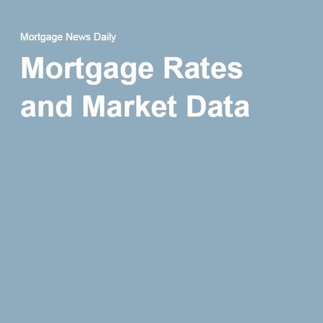 Mortgage Rates and Market Data Financial Pinterest Mortgage