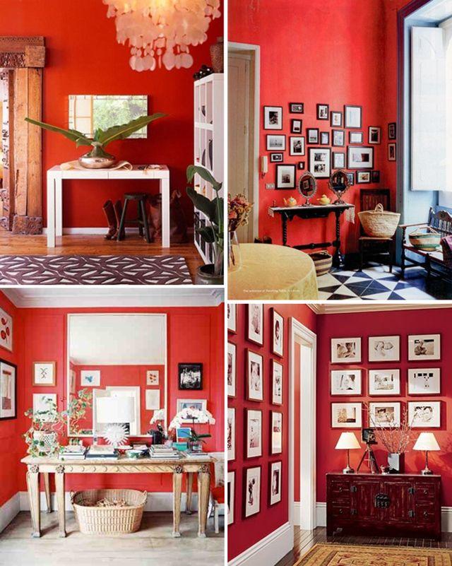 Afbeeldingsresultaat voor goede kleur rood muur  Rosarium