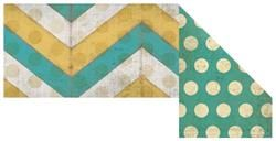 Retro Chic Turquoise & Gold Chevron & Dots Double-Sided Trimmer | Mardel