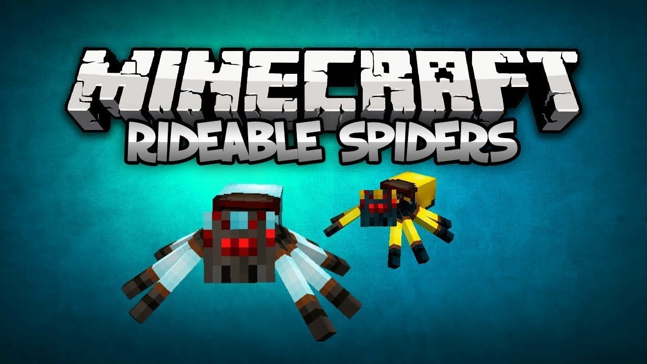 Minecraft Mods: Rideable Spiders Mod   1.6.4