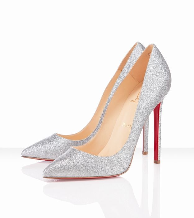 92ed875f9e08 Christian Louboutin Pigalle 120mm Silver