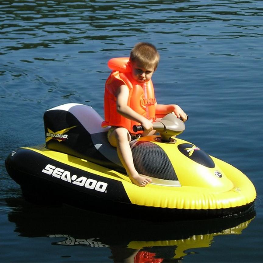 Moto d'acqua SeaDoo Aquamate elettrica e gonfiabile per bambini
