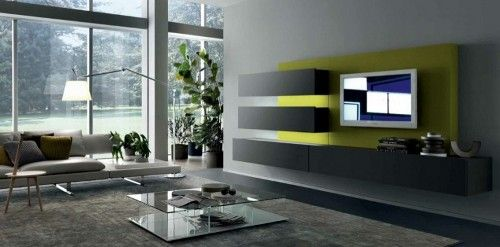 Sample Photos Of Wall Mounted Modern LCD TV Cabinet