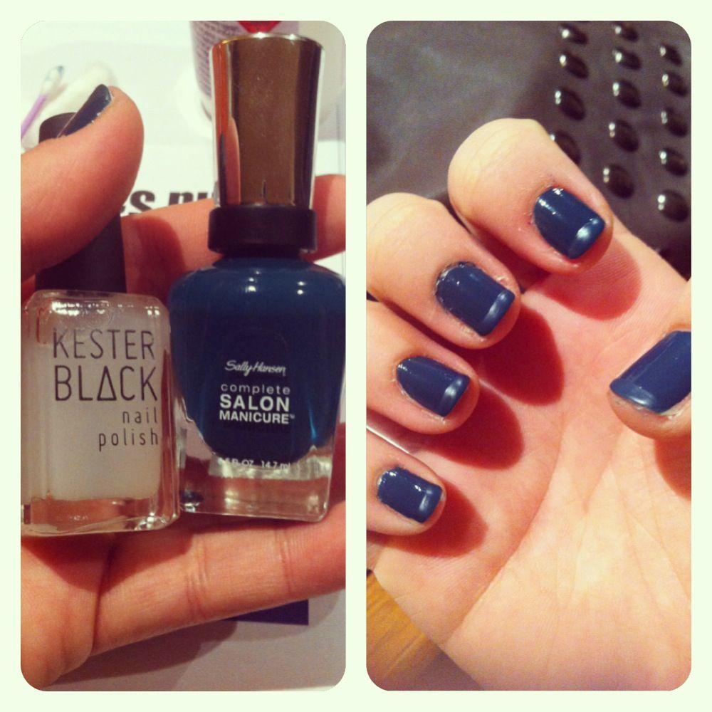 Matte tips Nail polish used- Sally Hansen: jungle green & Kester ...