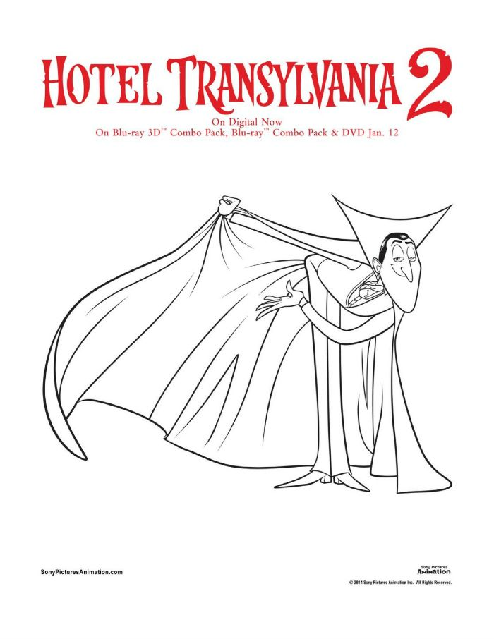 dracula coloring pages Hotel Transylvania Dracula Coloring Page | Printable Coloring  dracula coloring pages