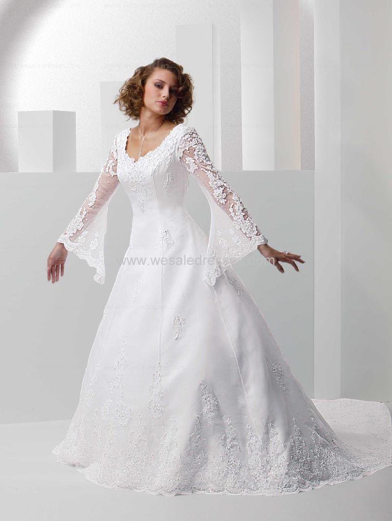 plus size wedding dresses with sleeves | wedding | Pinterest | Kleider