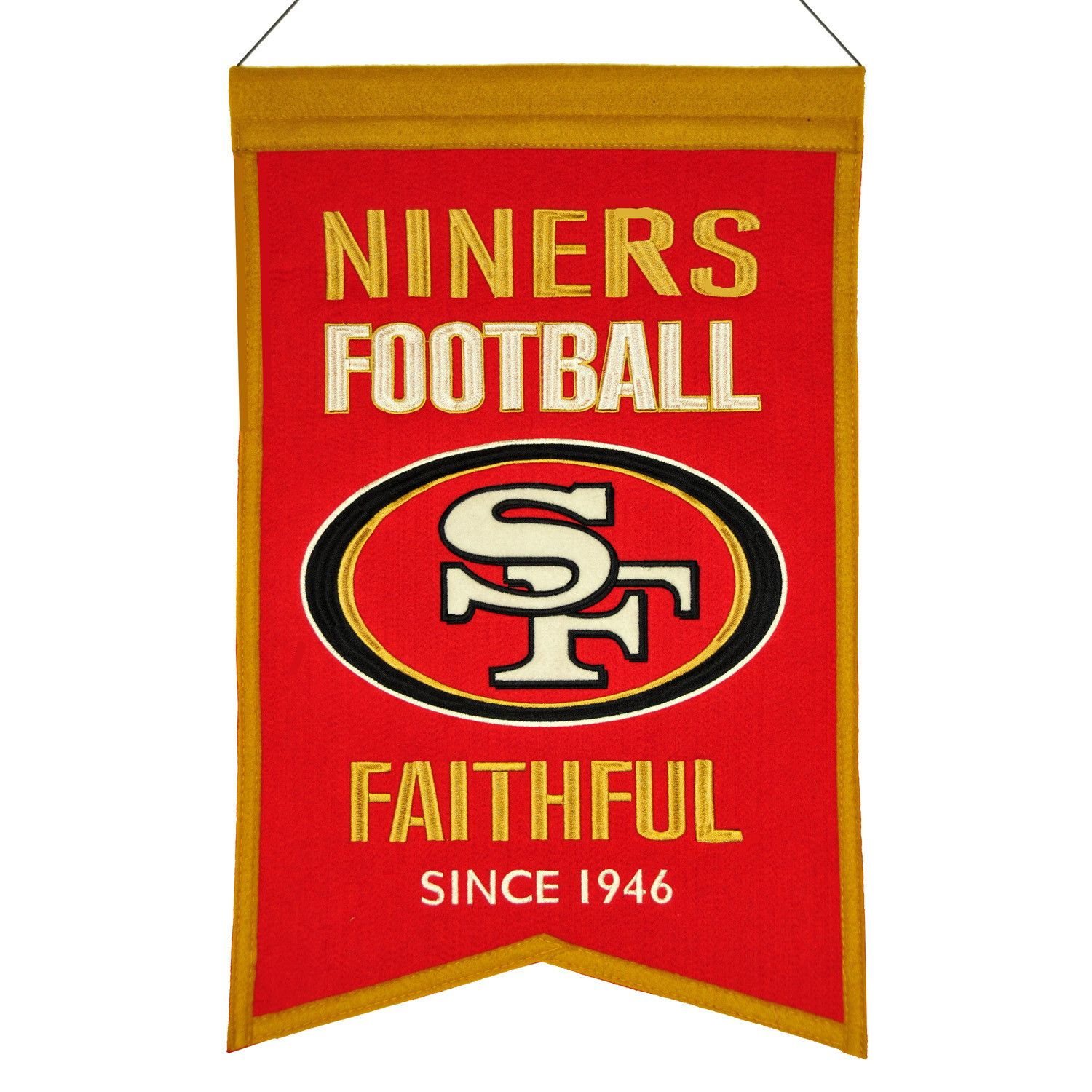 San Francisco 49ers Wool Franchise Banner