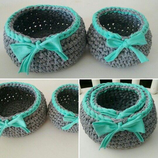 Tecendo artes em crochet cestinhos organizadores mega fofos com tapetes fandeluxe Choice Image