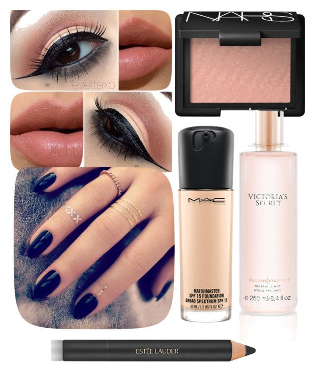 """""""Untitled #208"""" by rosslynch1999 on Polyvore featuring MAC Cosmetics, Lottie, NARS Cosmetics, Estée Lauder and Victoria's Secret"""
