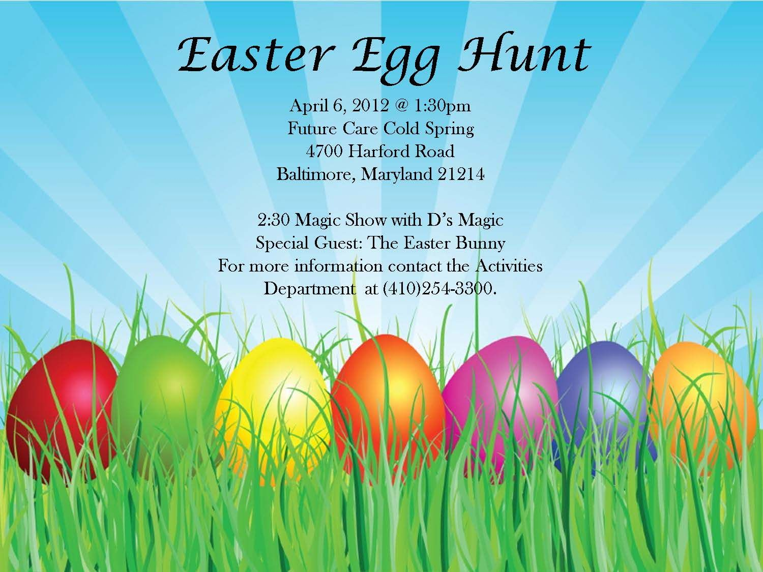 Easter Egg Hunt Flyer Template – Easter Flyer Template