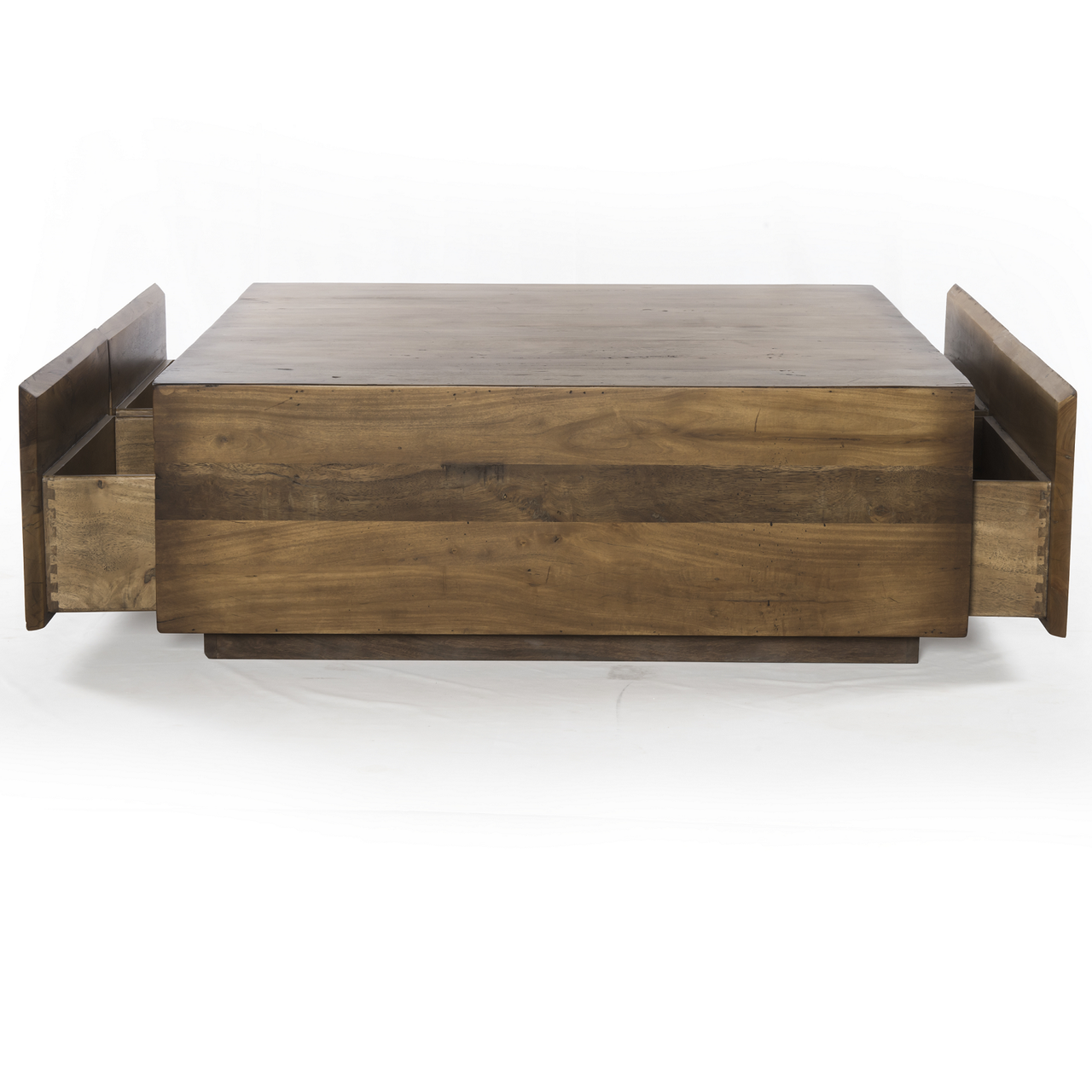 Duncan Reclaimed Wood Square Storage Coffee Table images