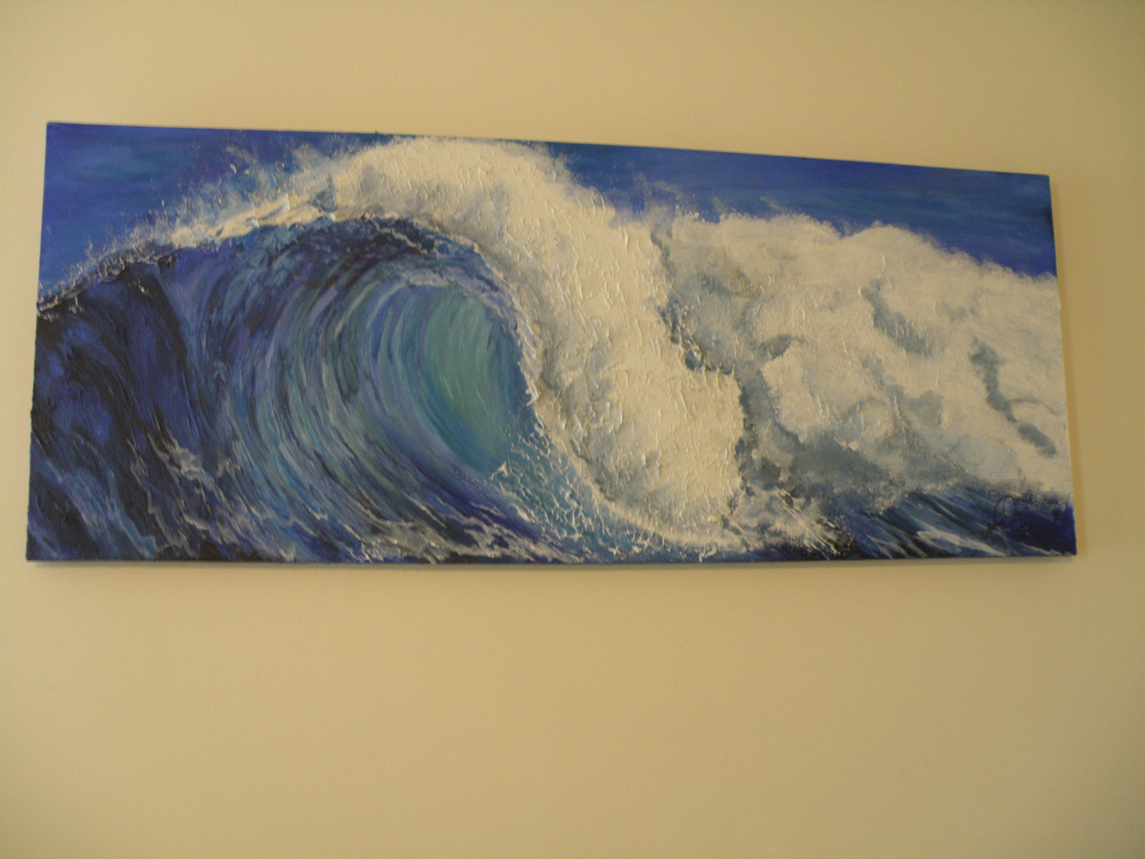 Wave - Acrylic and gesso on canvas | Canvas Art | Pinterest ...