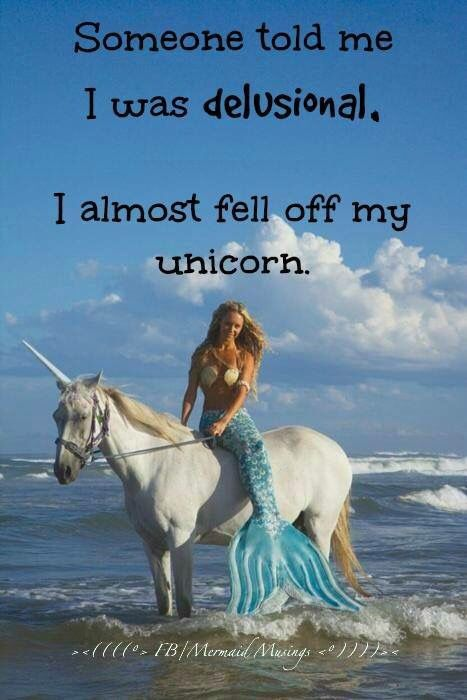 Mermaid on unicorn quote | Mermaid pictures, Real life ...