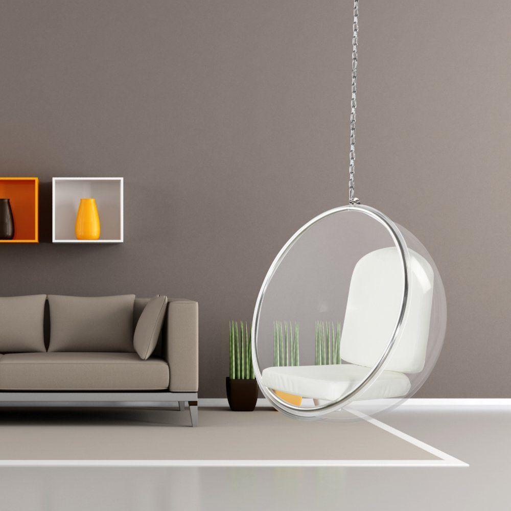 Designer Modern Bubble Hanging Chair Pink Acrylic Bubble Chair Hanging Chair Indoor Hanging Chair