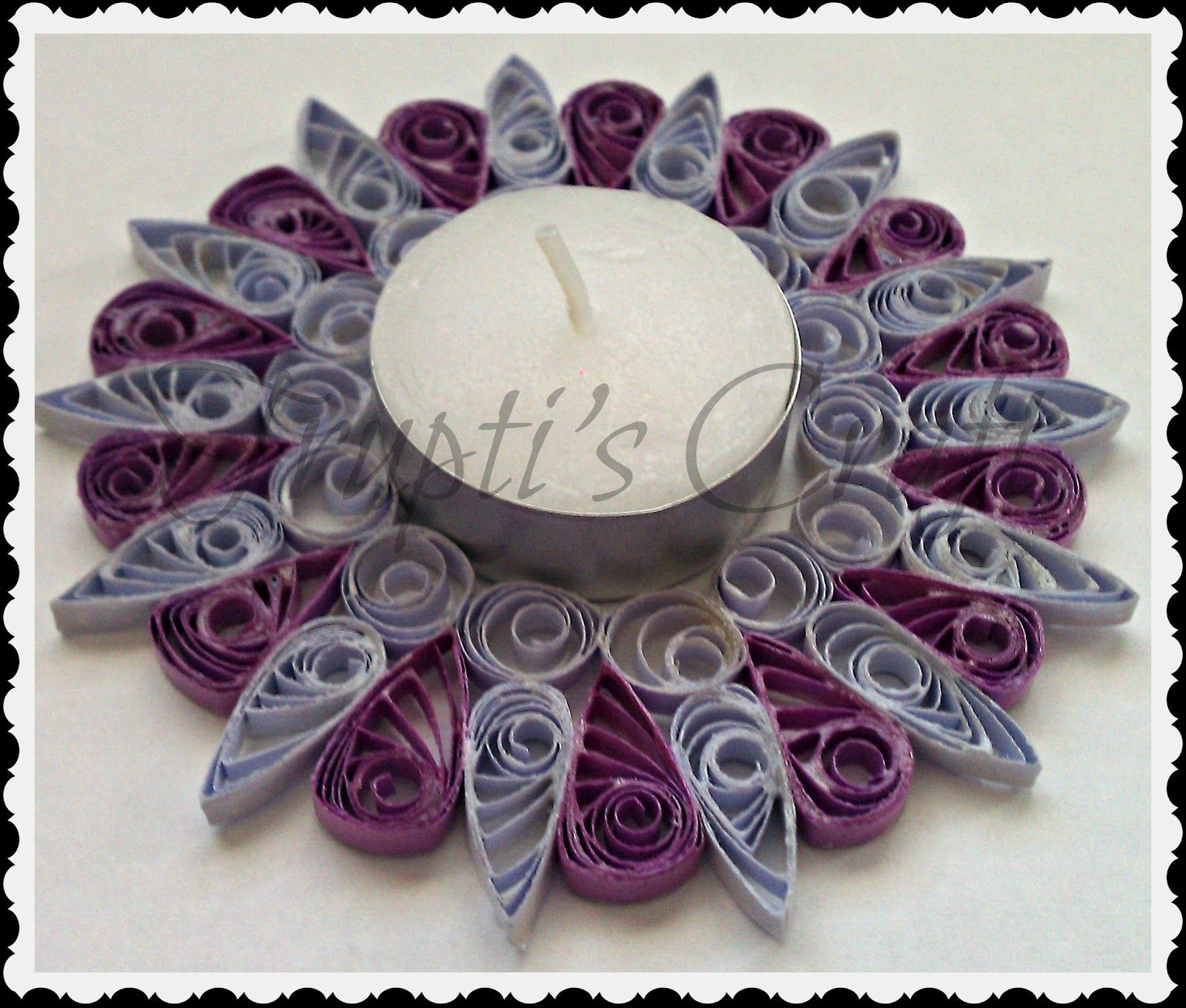Trupti's Craft: Candle Holder | Paper Quilling Candle ... - photo#26