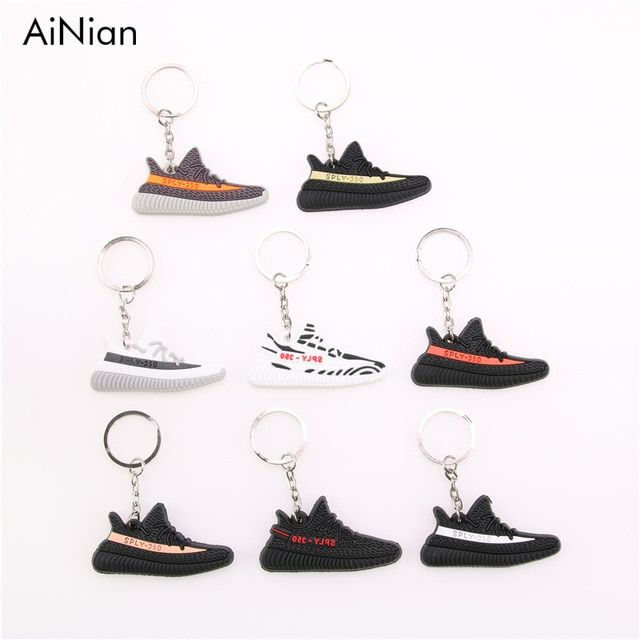 96614e53f AiNian Mini Silicone YEEZY BOOST 350 V2 Shoes Keychain Bag Charm Woman Men  Kids Key Holder Gift SPLY-350 Sneaker Key Chain Review