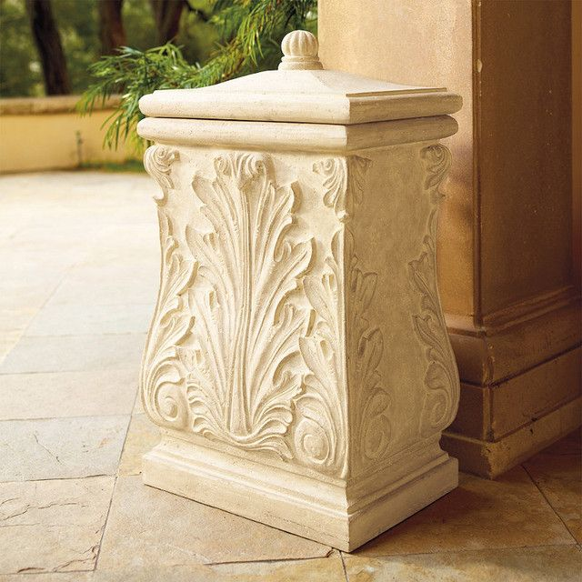 decorative outdoor garbage cans. Decorative Outdoor Trash Can  Patio living Pinterest