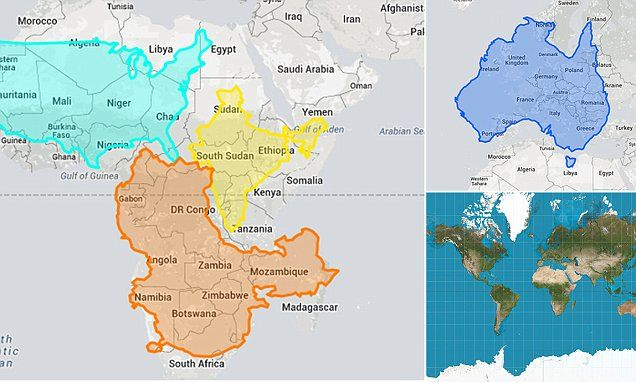 Interactive Map Shows The US India And Europe Can Fit Inside - Africa map can fit us and europe