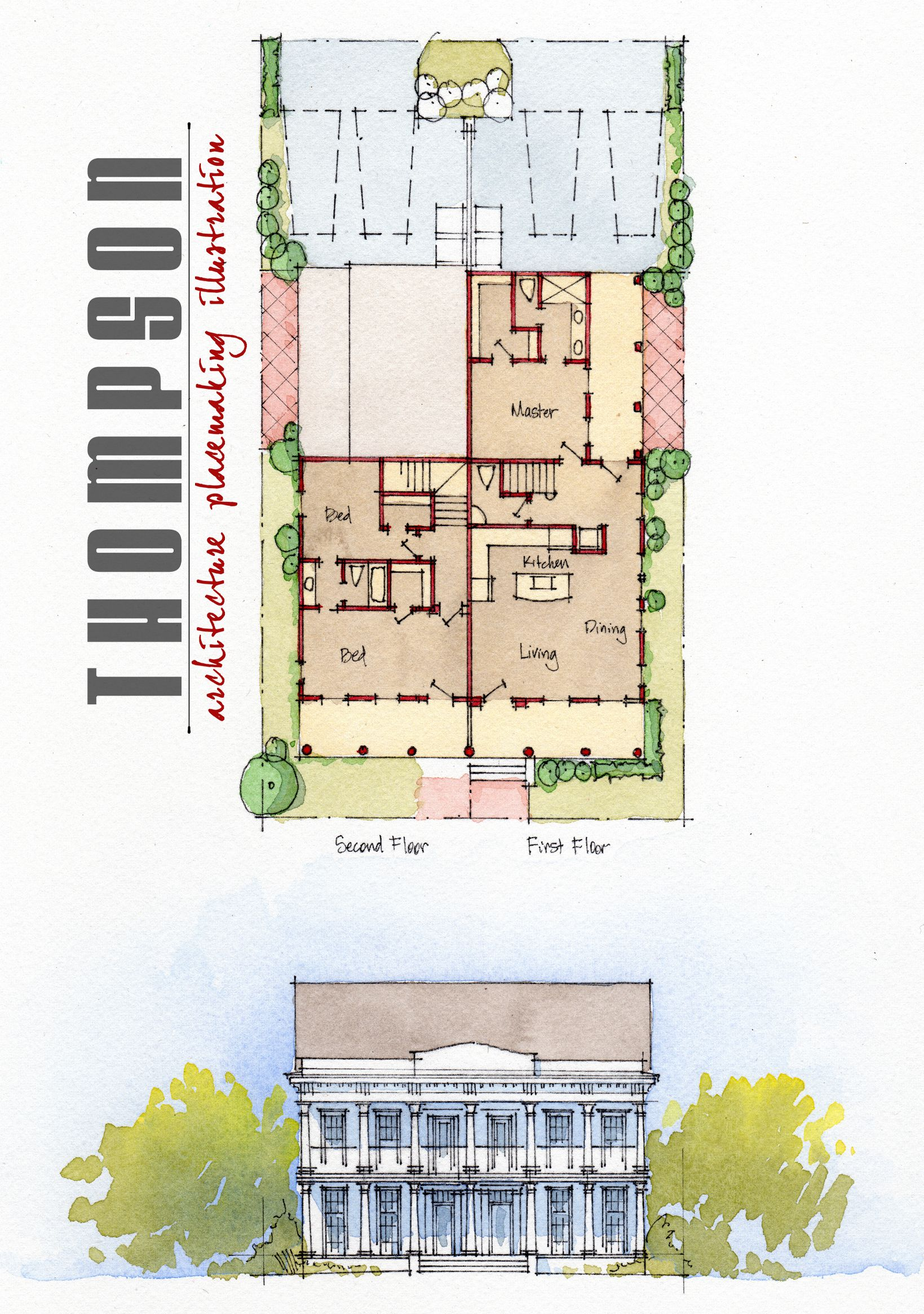 Pin By William Cooper On Architectural Renderings Vintage House Plans Traditional House House Design