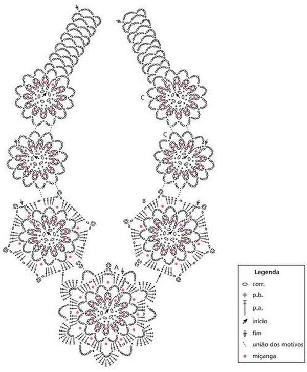 Bijoux et leurs grilles gratuites ! | horgolt ékszerek | Pinterest ...