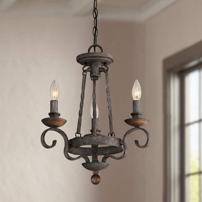 Quoizel Noble 15 Wide Rustic Black Mini Chandelier 7t360 Lamps Plus Small Chandelier Rustic Chandelier Mini Chandelier