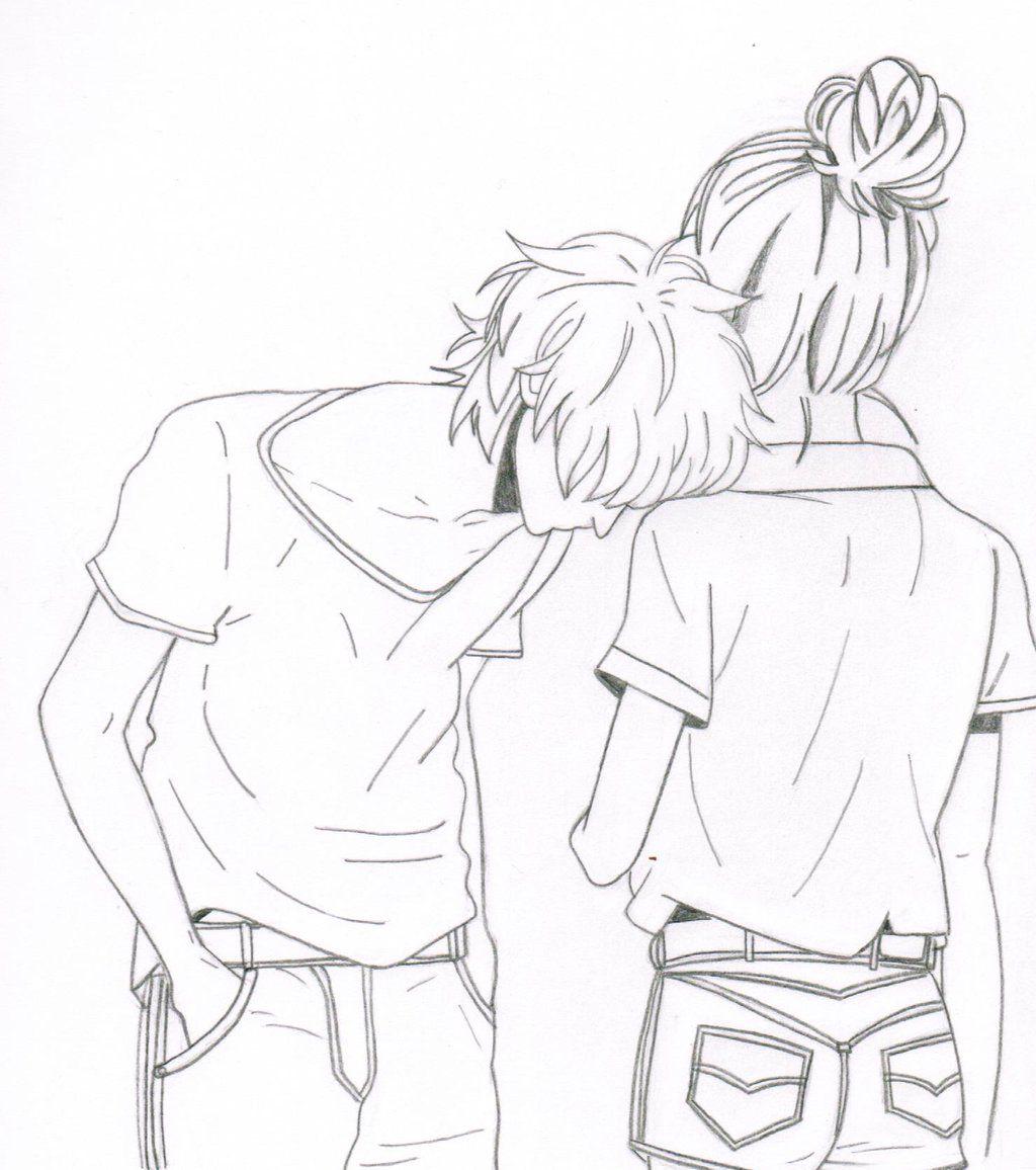 cute anime couple by olivevanilla deviantart com on deviantart