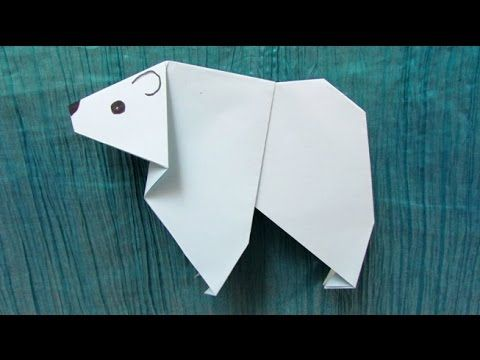 Origami Facile Ours Blanc Ours Polaire Origami Animals