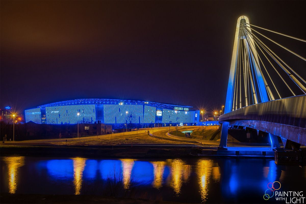 Design Verlichting Gent Steendam Painting With Light Case Ghelamco Arena Ghent Painting With