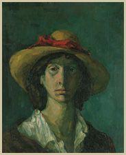 Ljubica Cuca SOKIĆ  Self-portrait (1942)  Spomen-zbirka Pavla Beljanskog