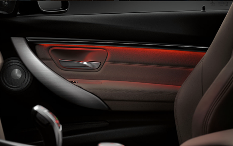 Ambient lighting in the BMW #3Series creates a driving experience