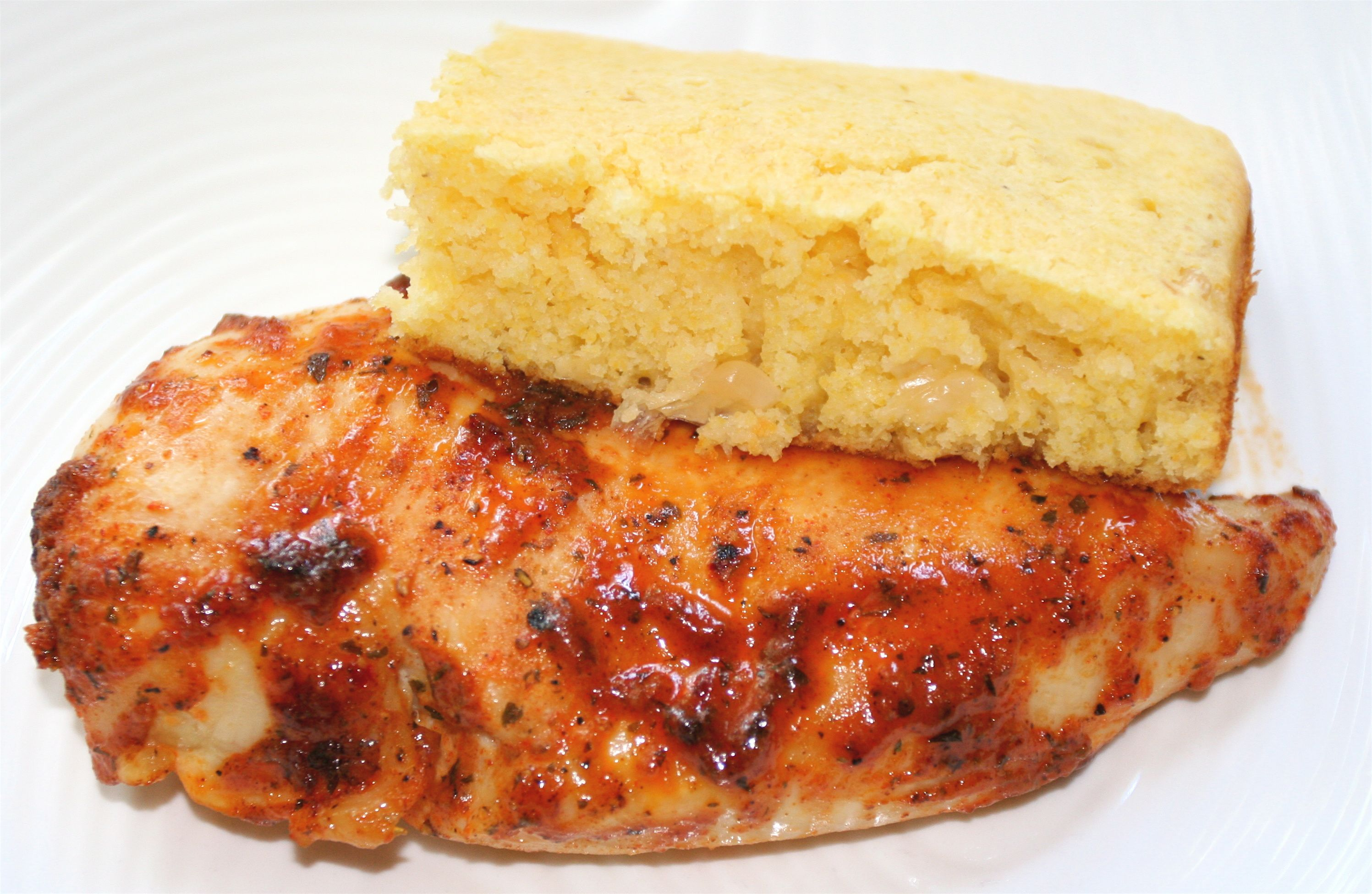 Best Spicy Ranch Baked Chicken With Creamy Corn Bread Creamy 400 x 300
