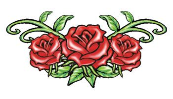 Rose Lower Back Tattoo Designs Temporary Tattoos Actual Size 3 5 X 2 90 Rose Tattoos Tattoos Lower Back Tattoos