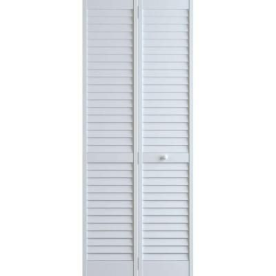 Louver Pine White Plantation Interior Closet Bi Fold Door 3115259   The  Home Depot