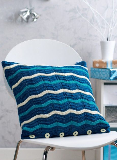A nautical themed, textured cushion cover by Julie ...