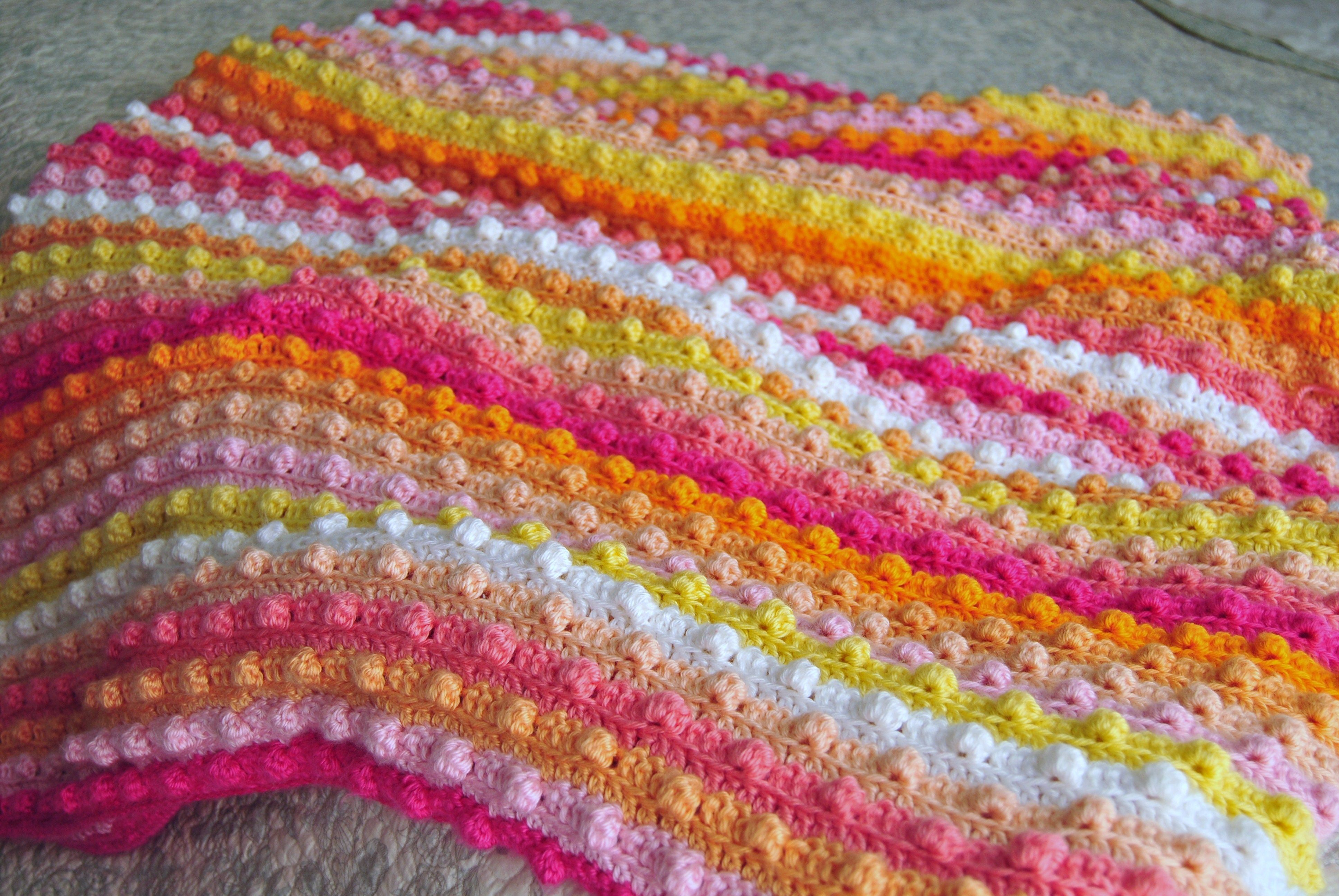 Popcorn stitch, bubble stitch, bobble stitch crochet