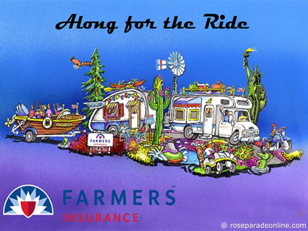 Farmers Insurance Rose Parade 2016 Float Along for the