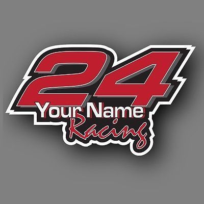 Race Car Number Vinyl Decal Sticker Set Kit Custom Made Products - Custom made vinyl decals