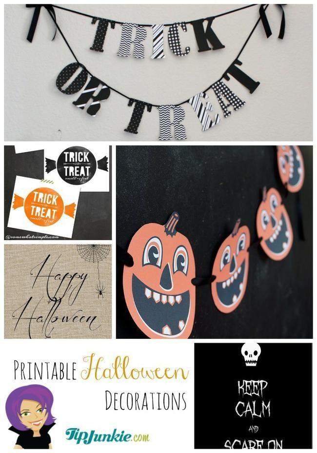 33 FUN and FREE Halloween Printables Pinterest Printable - free halloween decorations printable