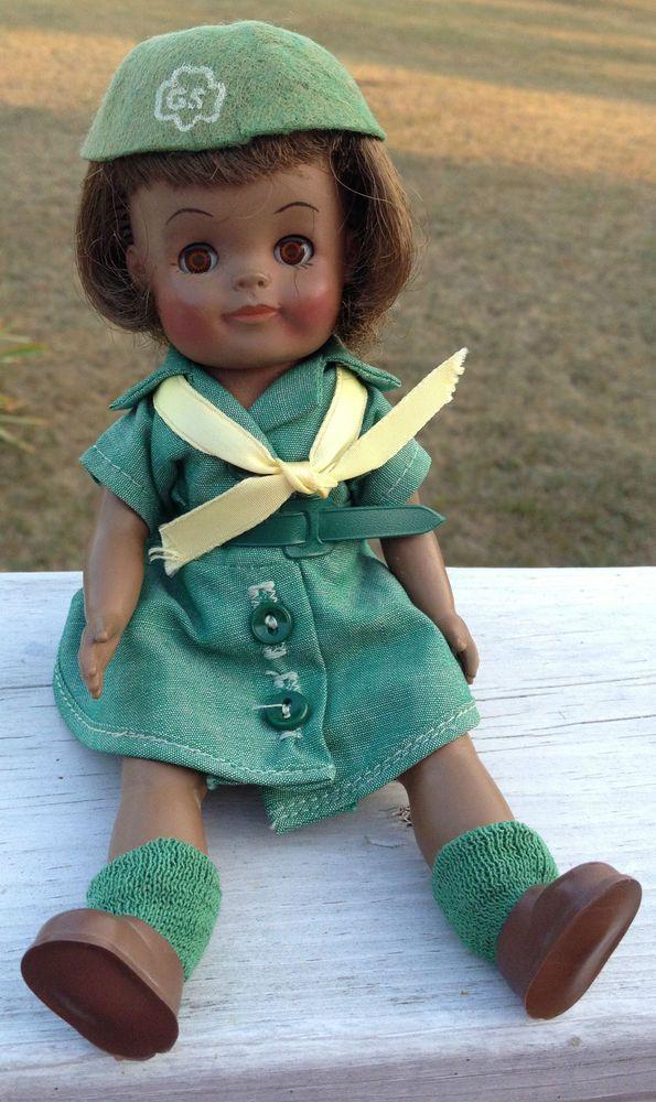 Vintage girl scout dolls