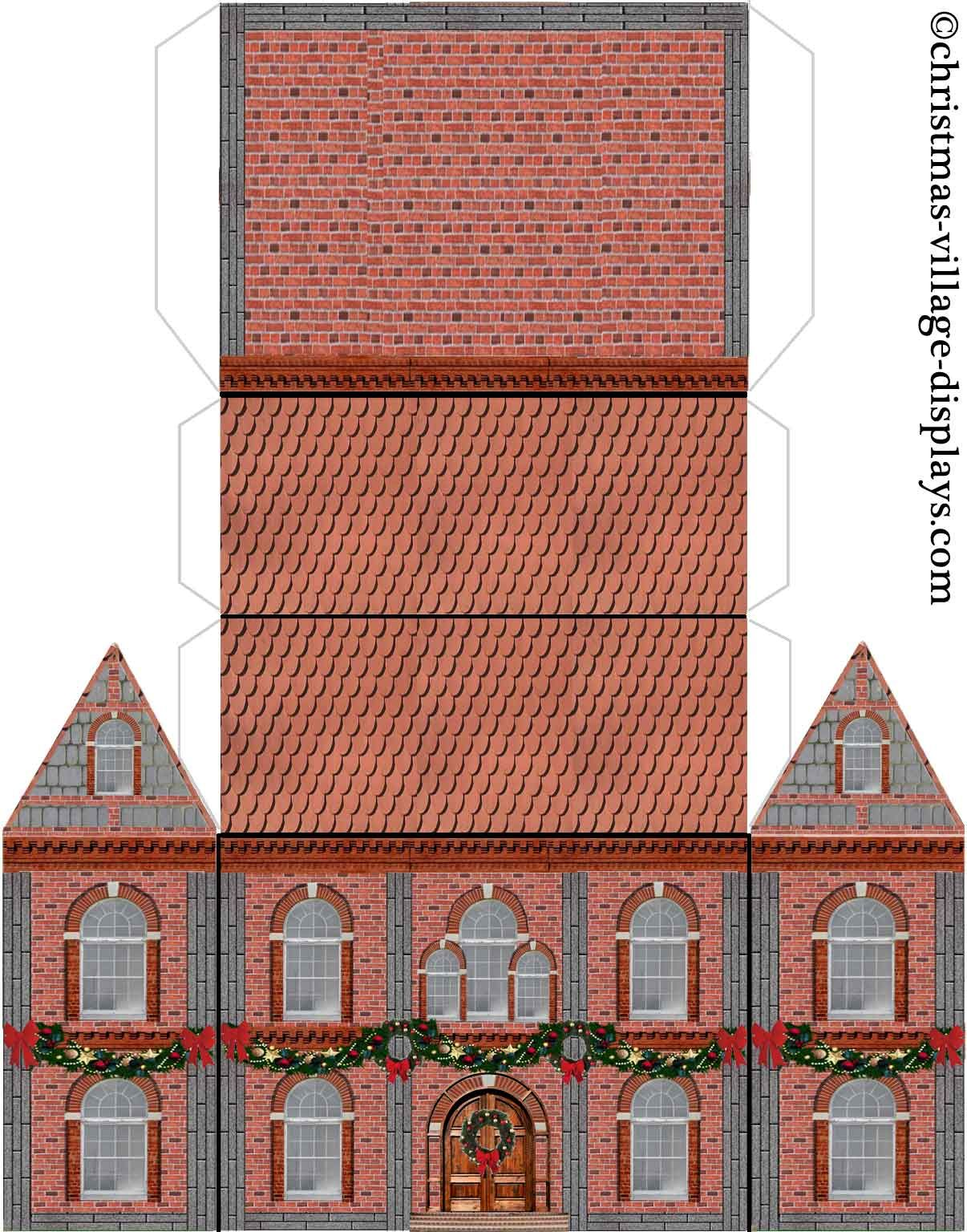 photo regarding Printable Christmas Village Template identified as Cardboard Design Area Template Printable type template