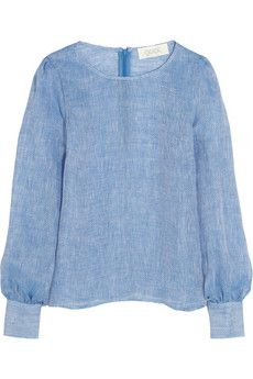 Goat Tennessee woven linen blouse  | THE OUTNET