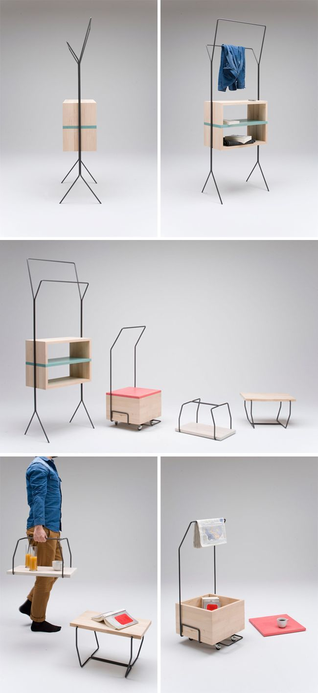 Multifunctional furniture for small living spaces by Simone Simonelli | Interior Design Inspiration