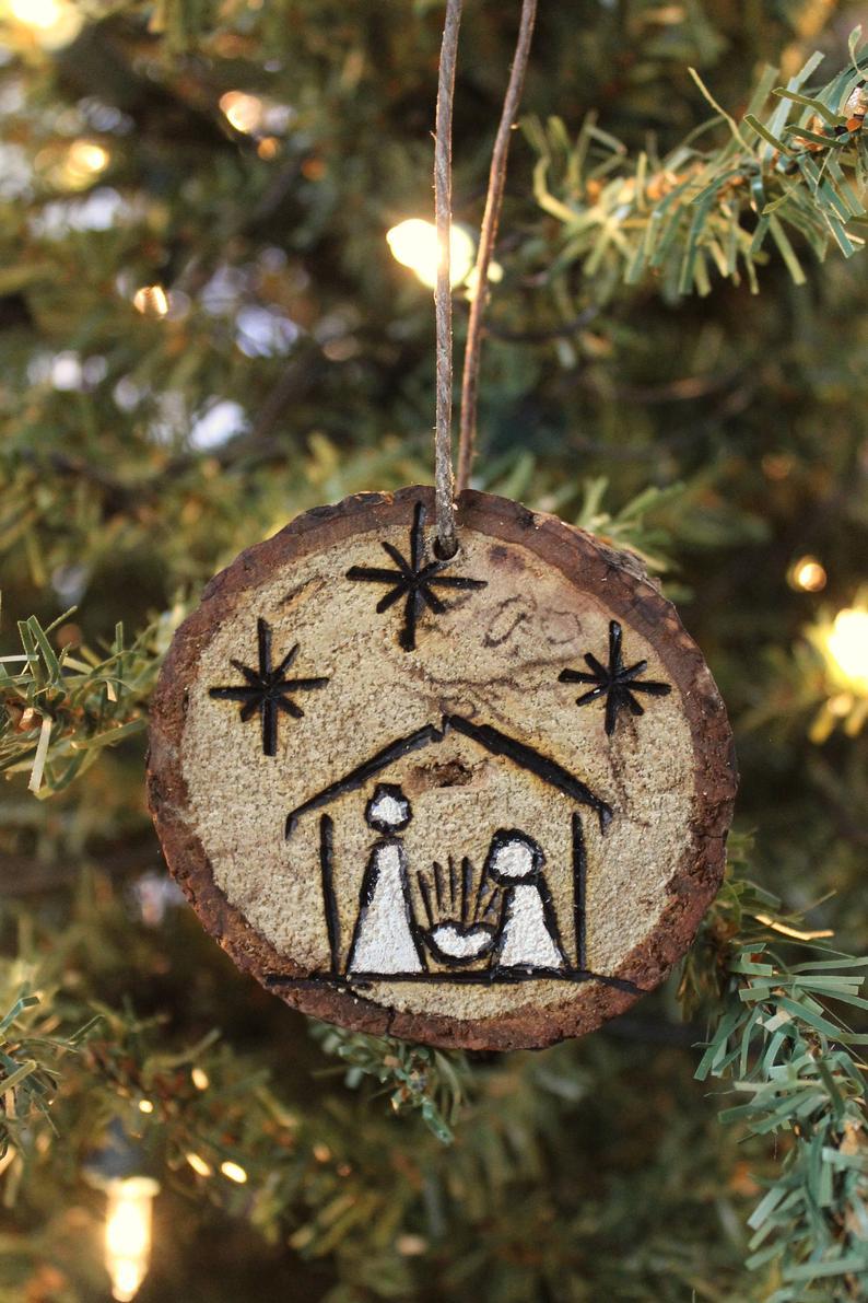 Free Shipping Ornaments Wood Slice Wood Burned Christmas Trees Etsy Wood Christmas Ornaments Christmas Ornaments To Make Wood Slice Ornament