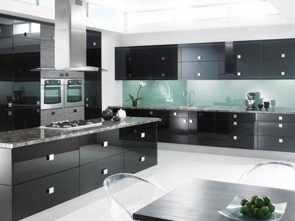 Black Modular Kitchen Designs, Ideas and Projects Ideas