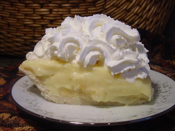 Old Fashion Banana Cream Pie