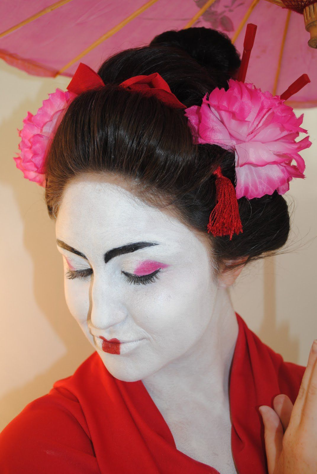 Traditional japanese hairstyles with chopsticks