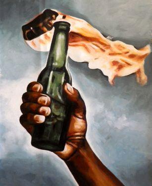 "Saatchi Online Artist thomas saliot; Painting, ""fight the power"" #art"
