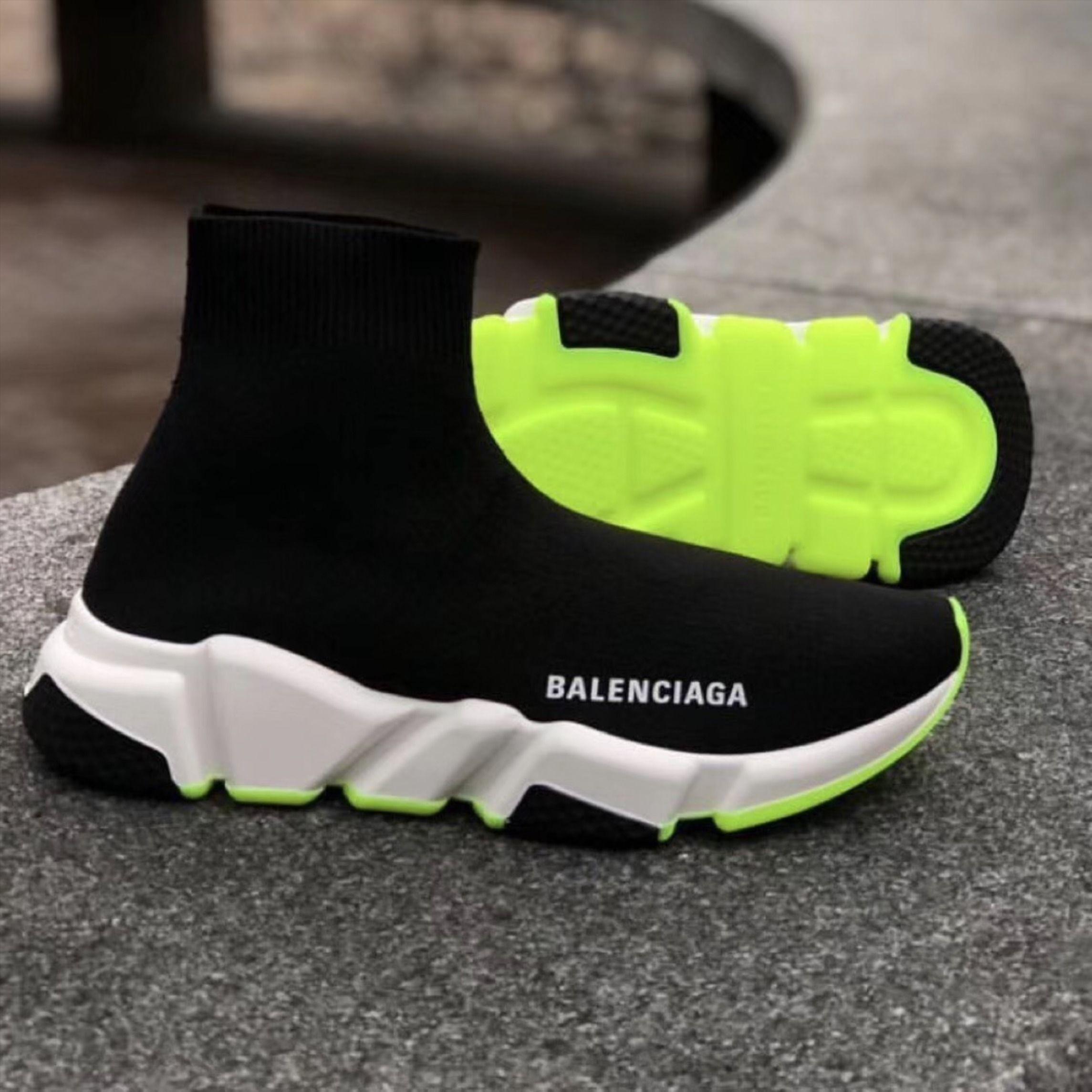 black and neon balenciaga