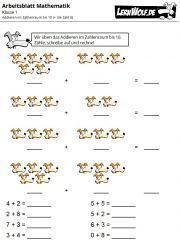 Übungen mathe klasse 1 kostenlos zum download - lernwolf.de in 2020   words, word search puzzle